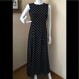 Vintage David Warren Sleeveless Polka-Dot Dress